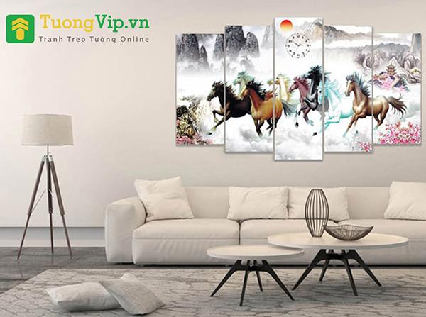 tranh trang trí phòng khách lớn