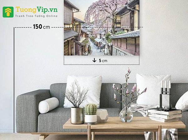độ cao tranh trang trí phòng khách
