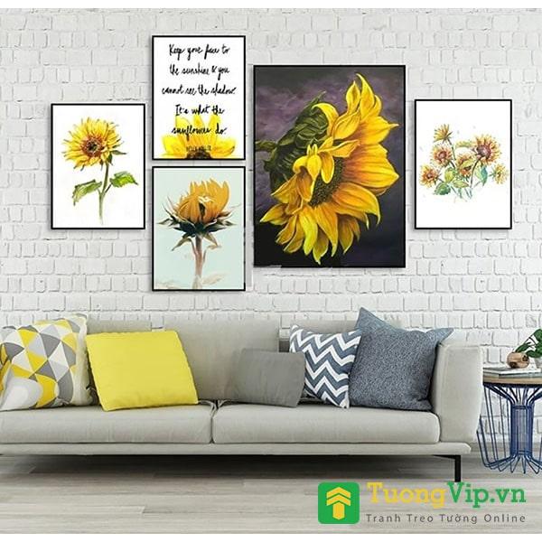 tranh treo tường nghệ thuật hoa hướng dương
