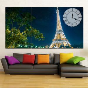 Tranh Đồng Hồ Paris Về Đêm