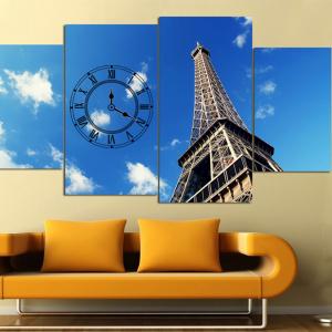 Tranh Đồng Hồ Tháp Eiffel