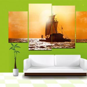 Tranh Treo Tường Phong Cảnh Hoàng Hôn Trên Biển