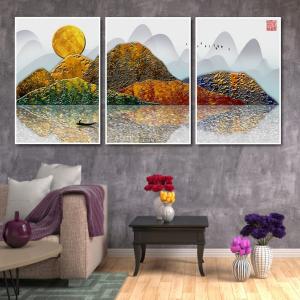 Tranh Treo Tường Phong Cảnh Núi Non Trùng Điệp