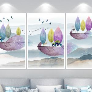 Tranh Treo Tường Tuần Lộc Và Núi