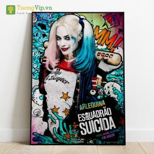 Tranh Treo Tường Phong Cách Pop Art Harley Quinn