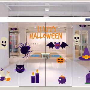 Combo Decal Trang Trí Halloween Rùng Rợn 2