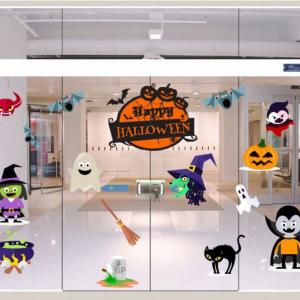 Combo Decal Trang Trí Halloween Rùng Rợn 1