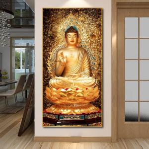 Tranh Treo Tường Đức Phật Trên Tòa Sen