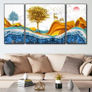 Tranh Treo Tường Rừng Vàng Và Núi Bạc