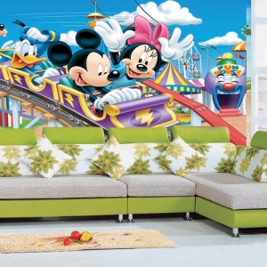Tranh Dán Tường Chuột Mickey