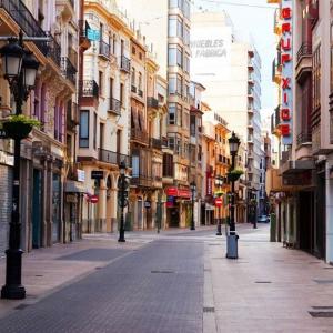Tranh Dán Tường Phố Thương Mại Castellon Ở Tây Ban Nha