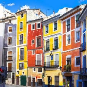 Tranh Dán Tường Các Tòa Nhà Mùa Sắc Thành Phố Cuenca