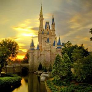 Tranh Dán Tường Lâu Đài Cổ Tích Cinderella Castle