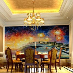 Tranh Dán Tường Phong Cảnh Đèn Đêm