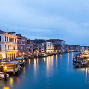 Tranh Dán Tường Nét Đẹp Hoàng Hôn Trên Kênh Đào Venice 3