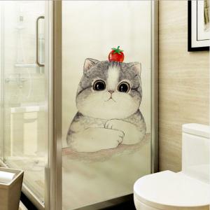 Decal Dán Kính Mèo Mập Cà Chua