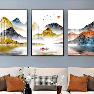 Tranh Treo Tường Phong Cảnh Sông Núi Nước Non