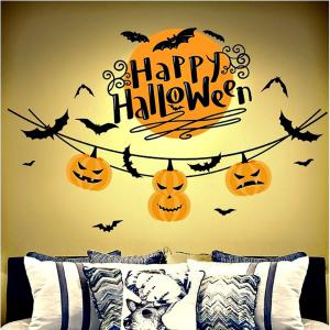 Decal Trang Trí Dây Treo Bí Đỏ Halloween