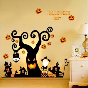 Decal Trang Trí Halloween Cây Kinh Dị