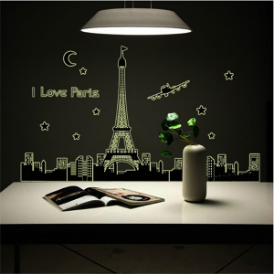 Decal Trang Trí Dạ Quang Phong Cảnh Paris
