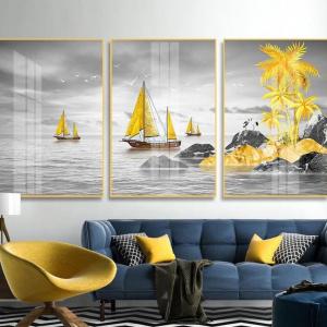 Tranh Treo Tường Thuyền Và Biển