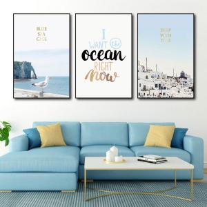 Tranh Canvas Treo Tường Biển Xanh 3