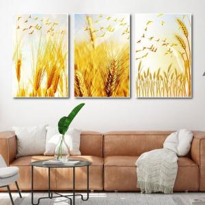 Tranh Canvas Treo Tường Cây Lúa Vàng Tươi