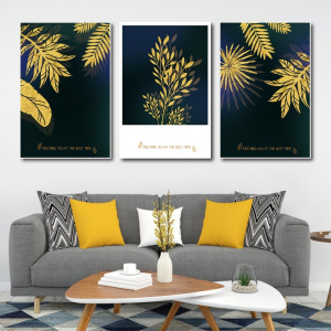 Tranh Canvas Treo Tường Lá Vàng Nghệ Thuật 5