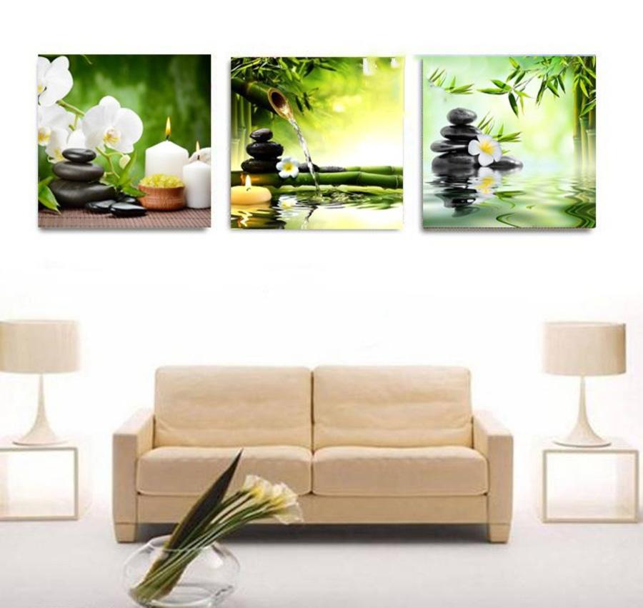 Tranh Canvas Treo Tường Spa Hoa Lan Trắng 3
