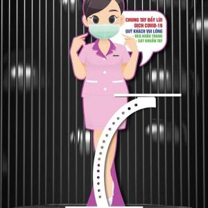 Standee Chống Dịch Cô Tiếp Tân