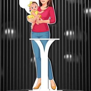 Standee Chống Dịch Mẹ Và Bé
