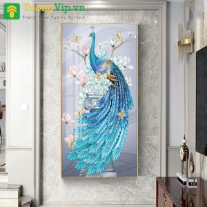 Tranh Treo Tường Nghệ Thuật Chim Công 3