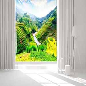Rèm Cuốn Tranh 3D Ruộng Bậc Thang