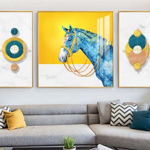 Tranh Treo Tường 3D Chú Ngựa Nghệ Thuật