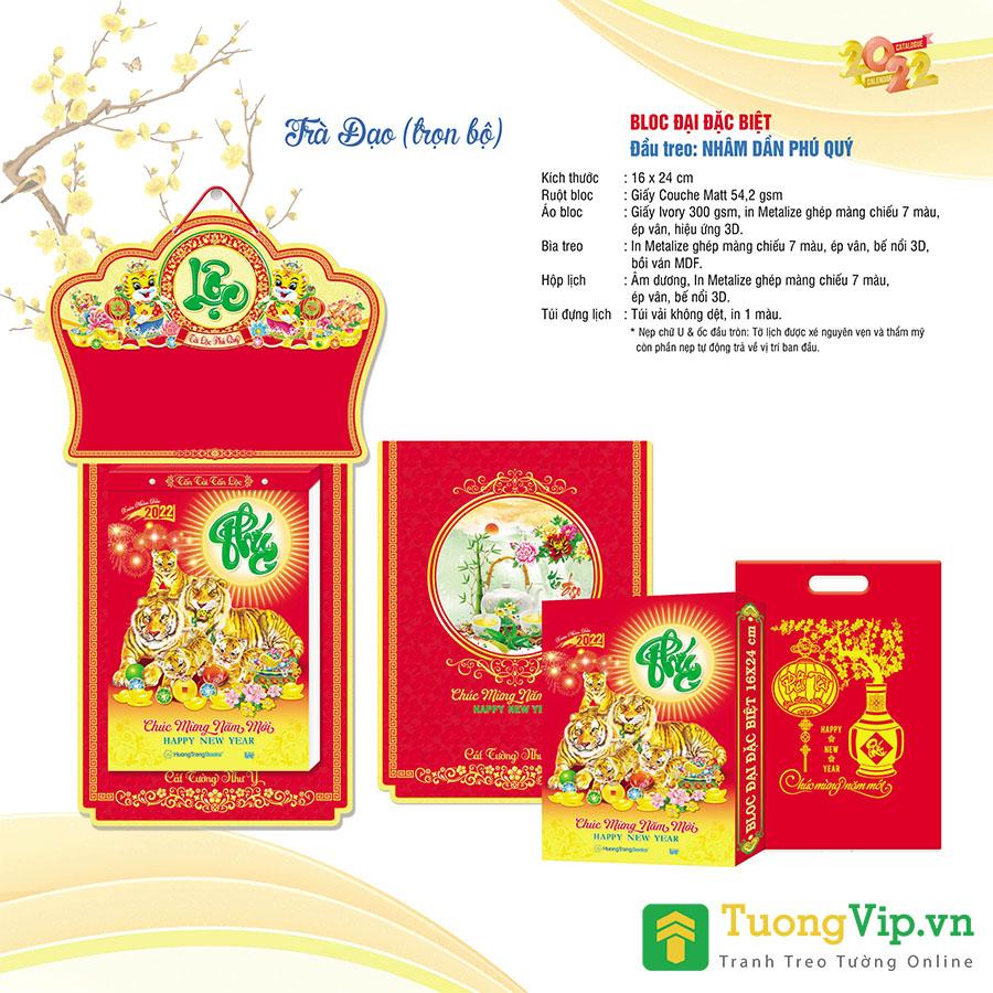 Lịch Bloc Đại Đặc Biệt 2022 (16x24cm) - Nhâm Dần Phú Quý - TV12