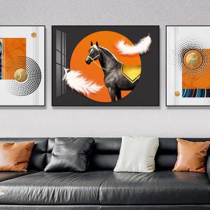 Tranh Treo Tường 3D Chú Ngựa Nghệ Thuật 2