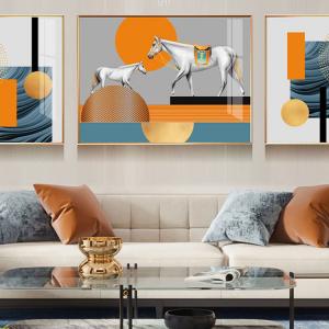 Tranh Treo Tường 3D Chú Ngựa Nghệ Thuật 3