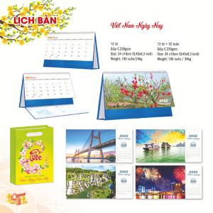 Lịch Để Bàn Chữ A 2022 (24x16cm) - Việt Nam Ngày Nay - TV115-TV116