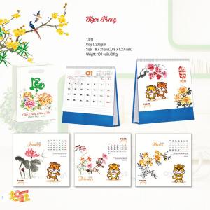 Lịch Để Bàn Chữ A 2022 (18x21cm) - Tiger Funny - TV138