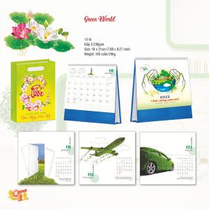 Lịch Để Bàn Chữ A 2022 (18x21cm) - Green World - TV136