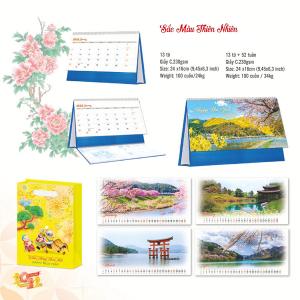Lịch Để Bàn Chữ A 2022 (24x16cm) - Sắc Màu Thiên Nhiên - TV119-TV120
